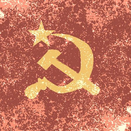 Rusland vlag vintage abstract grunge achtergrond, vector illustratie