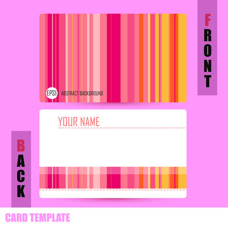 Modern Abstract colorful background template Business-Card Set Vector