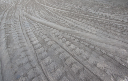 tire tracks: Tire tracks on the cement floor