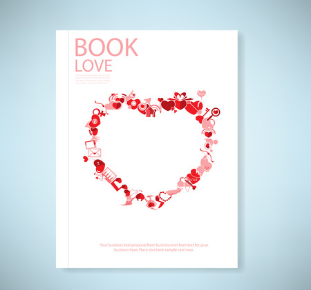 love declarations: Report red icon heart valentines day card with sign
