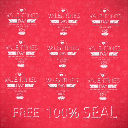 Template valentines day up to sale card. Vector