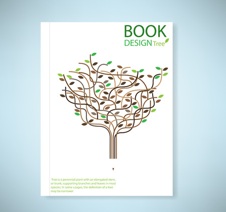 Cover report stylized vector tree and icon