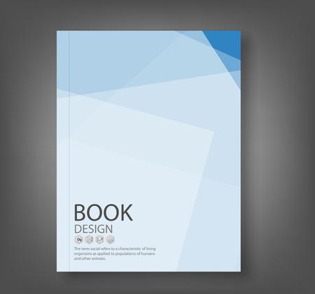 Cover rapport blauwe abstracte achtergrond, vector illustratie