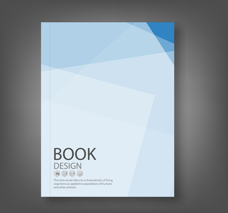 Cover report blue abstract background, vector illustration Vettoriali