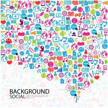Sjabloon ontwerp Zakenman denken idee met sociale netwerk pictogrammen achtergrond