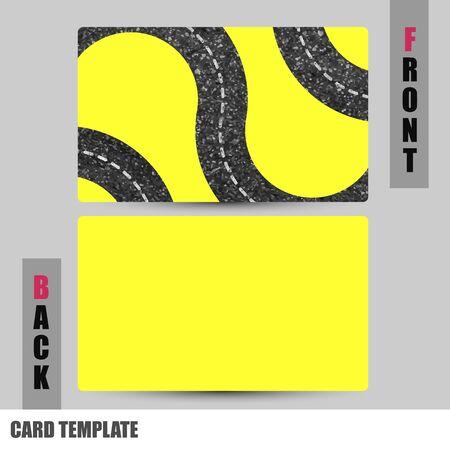 businesscard: Modern road concept Business-Card Set