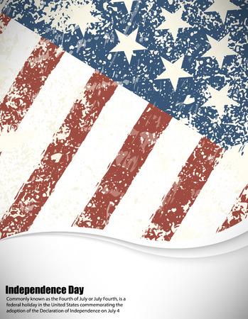 american flag background: Grunge American flag background.