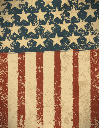 Grunge Amerikaanse vlag achtergrond. Stock Illustratie