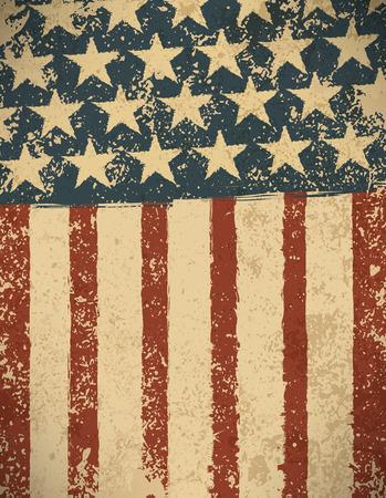 lineas verticales: Grunge fondo de la bandera americana.