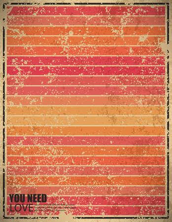 sun rise: pink sun rise vintage background, illustration Illustration