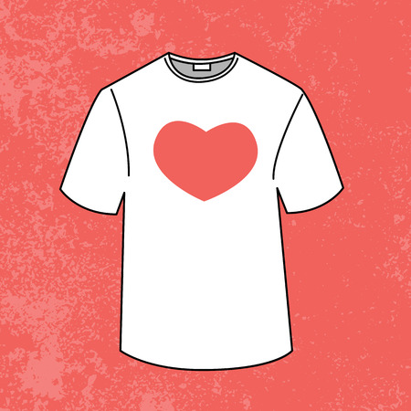 raglan: t-shirt design heart template by love