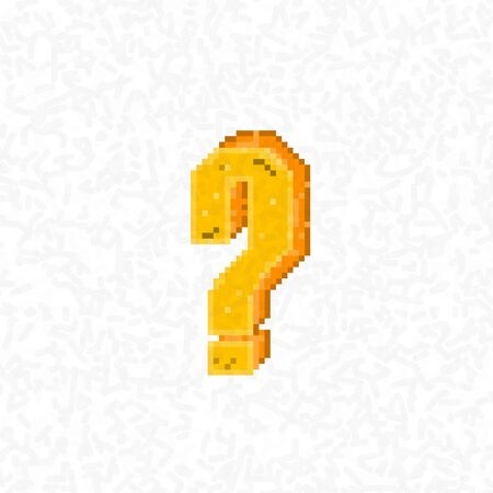 8 bit: retro question mark symbol style 8 bit Illustration