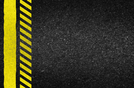 texture of illustration: Danger arrows on asphalt texture. illustration vector