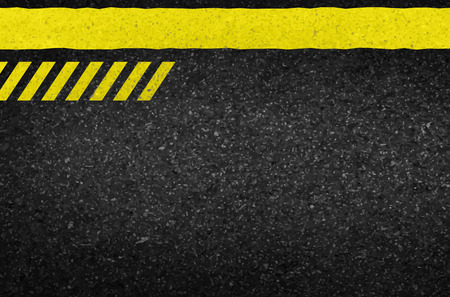 Danger arrows on asphalt texture. illustration vector