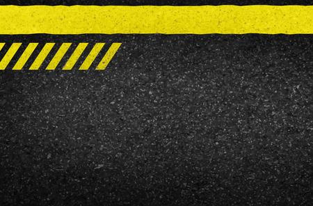 peligro: Flechas de peligro sobre la textura del asfalto. ilustraci�n vectorial