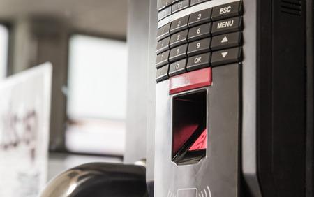 Finger scanner on the scanner glass.