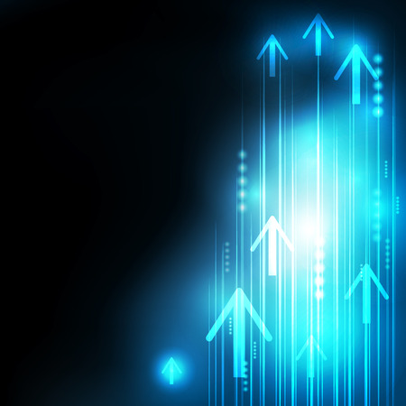 high speed internet: Abstract Blue Arrows technology communicate background, vector illustration