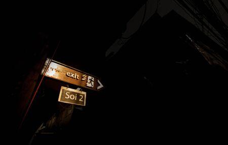 escape: fire escape wooden sign