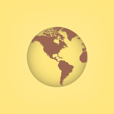 european community: World map and compass of vector illustration Illustration