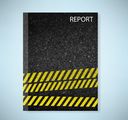 texture of illustration: report danger arrows on asphalt texture. illustration vector