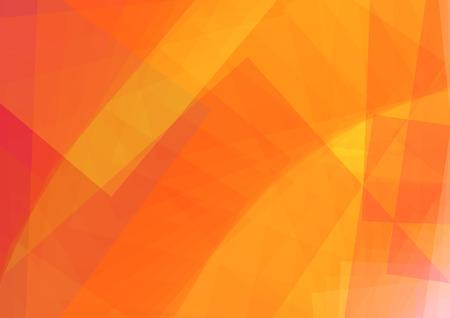 Abstracte oranje illustratie met rechthoek. vectorillustratie