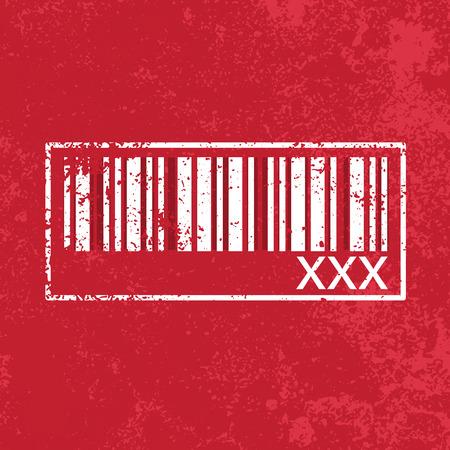 xXx barcode, vector Illustration
