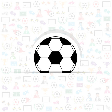 goal cage: football icons of soccer background, Illustration vector eps10