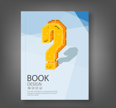 8 bit: report retro question mark symbol style 8 bit, vector illustration