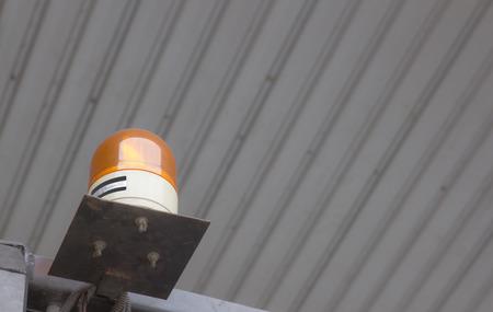 emergency light: Emergency light on Forklift Stock Photo