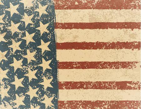 us flag grunge: Grunge American flag background. Vector illustration.