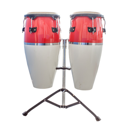 bongo drum: Bongos isolate on white background