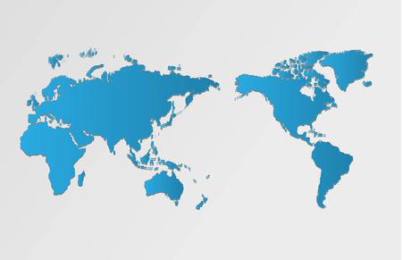 Wereld kaart en kompas illustratie