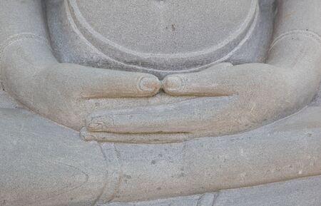 crosslegged: The Buddha are sit cross-legged. Stock Photo