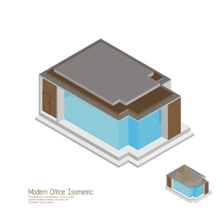 moderm: Isometric moderm home. vector illustrations,