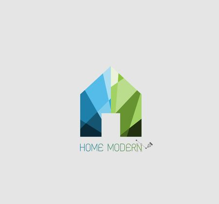 huis logo: Home logo for concept modern
