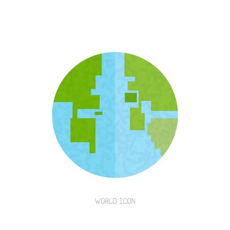 Abstract globe Vector, bit vector illustration