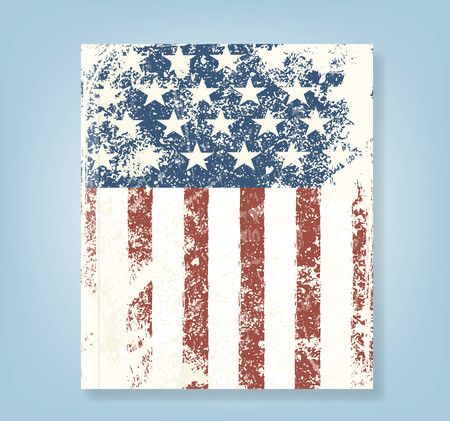 american flag background: Report Grunge American flag background. Vector illustration, EPS 10