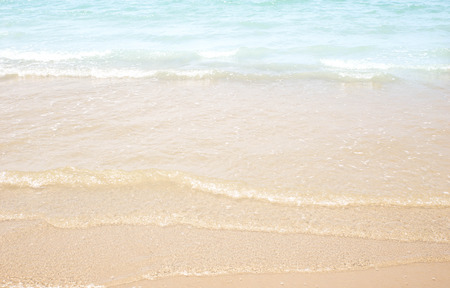 beach: Ripple water wave in sea ocean. Stock Photo