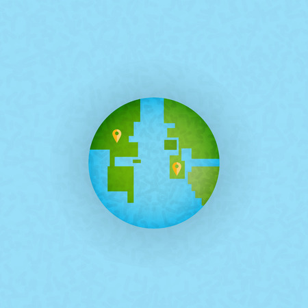 check in: Abstract globe check in, bit vector illustration Illustration