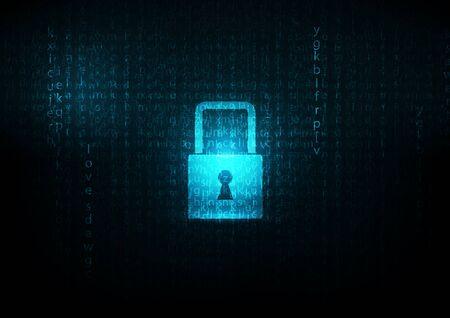 lock  futuristic: Bloccare astratto blu futuristico codice inglese sfondi astratti vettoriale