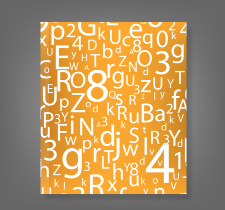 clippings: ABC Designed background book., vector Illustration