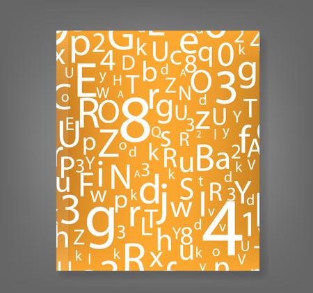 ABC Designed background book., vector Illustration