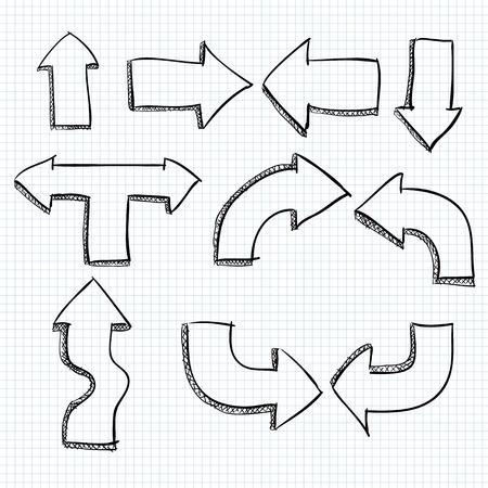 doodled: Big Set of Doodled Arrows