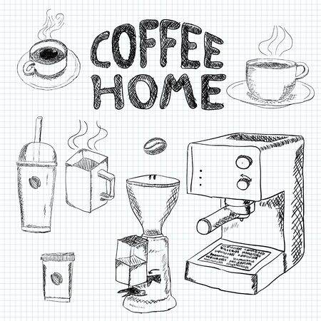 sweetshop: coffee collection - hand drawn illustration