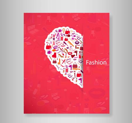 nail file: Book Fashion, vector illustration