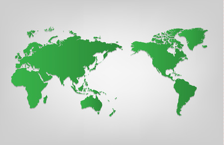 asia: World map of vector, vector illustration