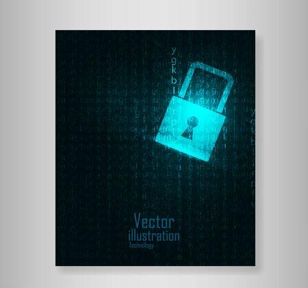 lock  futuristic: Book Lock abstract blue futuristic english code abstract vector backgrounds Vettoriali