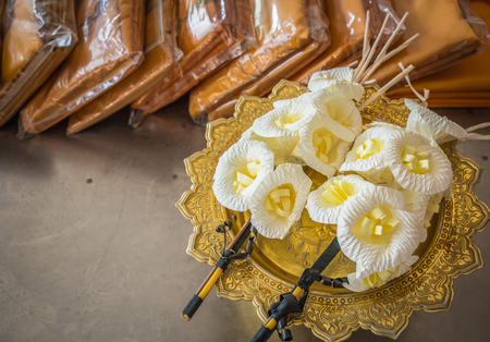 funeral: Image of Artificial flowers used during a funeral