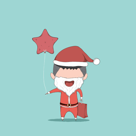 reference: Boy cute Christmas character. drawing by hand vector and digital illustration created without reference image. Illustration