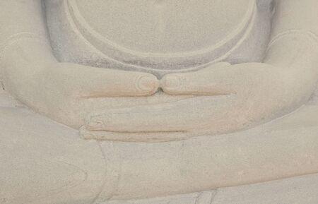 crosslegged: The Buddha are sit cross-legged. Vintage filter. Stock Photo